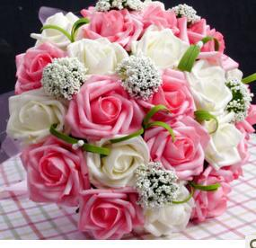 New arrival  Romantic Wedding Colorful Bride 's Bouquet,red pink blue and purple F-56