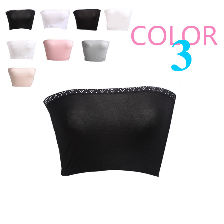 New arrival soft and comfortable breathable modal solid color all-match basic women's tube top tube top