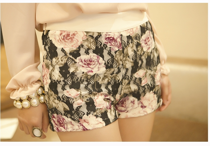 New Arrival Spring Stlye 2013, Japan And South Korea Version Of Sexy Little Princess Printed Lace Shorts/Hot Pants