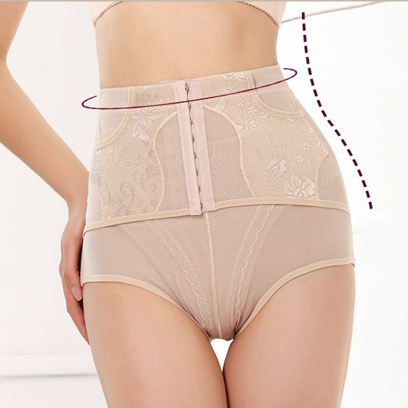 New arrival strap buckle adjustable thin breathable high waist abdomen drawing butt-lifting panties waist pants drawing abdomen