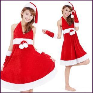 New Christmas sexy costumes holiday clothing female student photography photo DS nightclub stage performances uniform temptation