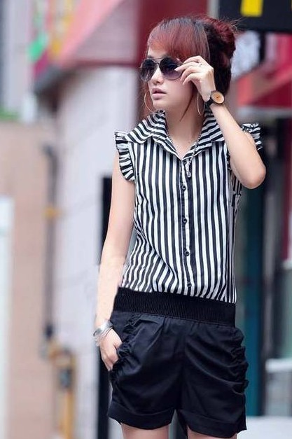 New  comming  hot selling summer women jumpsuit  striped  lady overall