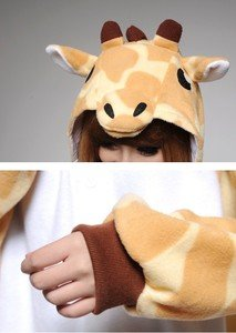 New Cushzilla Giraffe KIGURUMI Pajamas Adult Animal Halloween Costume Soft Wear