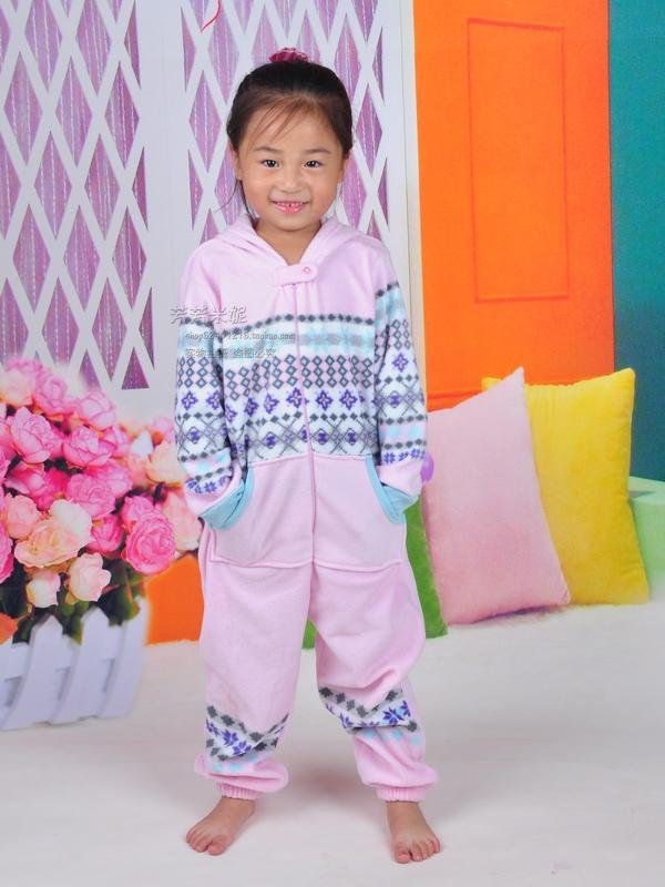 New cute children cartoon conjoined pajamas autumn and winter codes children sleeping bag pajamas free  shipping