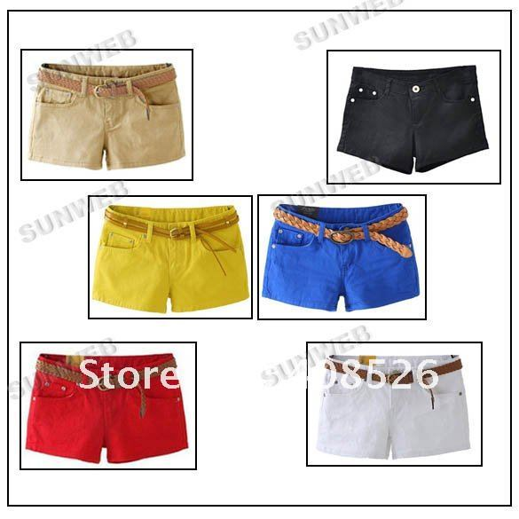 New Fashion Best Selling Women's Colorful Candy Pencil short Pant/Hot Pant free shipping 5056