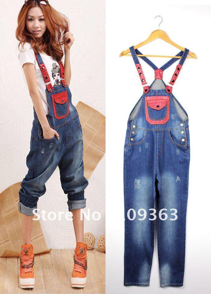 New Fashion Lovers Denim Jumpsuits,Joker Denim Loose Jeans ,Denim Overalls Factory Wholesale ,Free shipping QQ9932