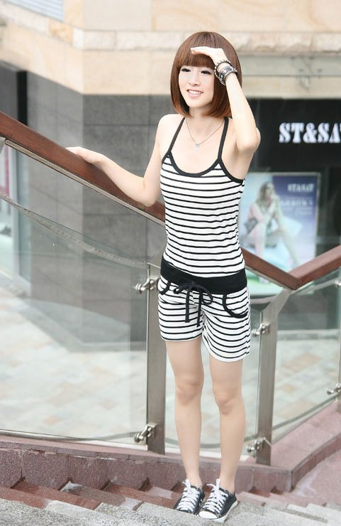 NEW,  fashion striped SEXY braces hot selling ladies jumpsuits