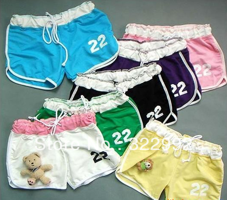 New Fashion Women's Casual Cool Sport Rope Short Pants Jogging Trousers In 9 Colors