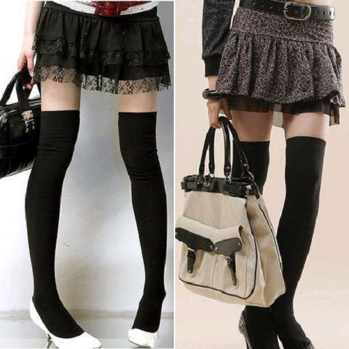 New Fashion Womens Over Knee Sock Thigh High Cotton Stockings OP1024 [23637|01|01]