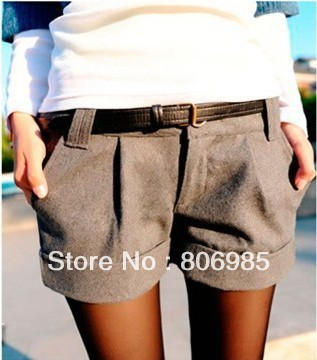 New free shipping Autumn Winter Women's Turn-Up Straight Boot Cut Plus Large Casual Shorts