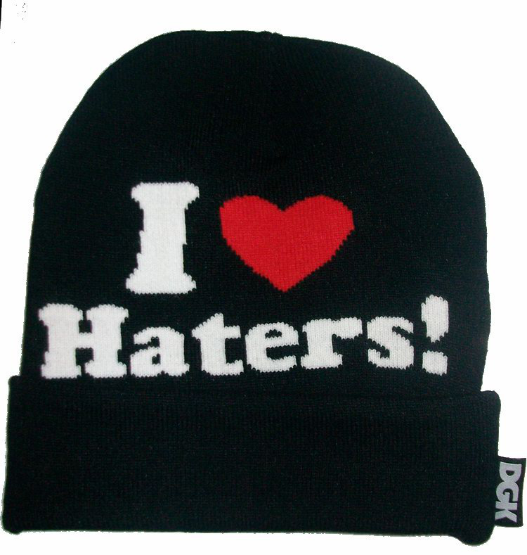 New Hot DGK I Love Haters Beanie Hats Are Extremely Loved By People top quality freeshipping black and red