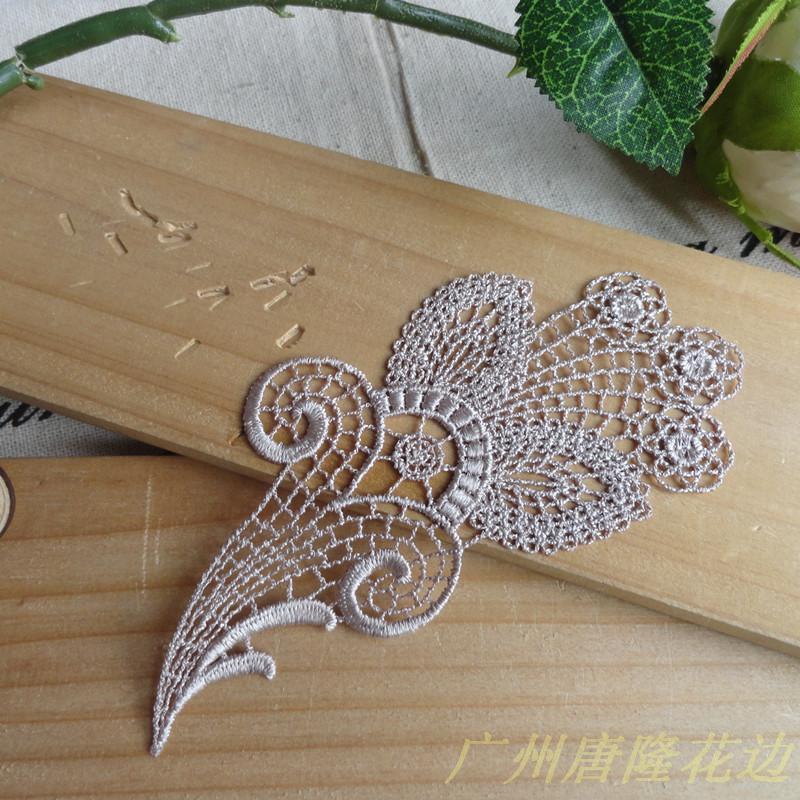 New hot sale White Flower Lace Appliques For Decorations, Garment accessories,DIY appliques