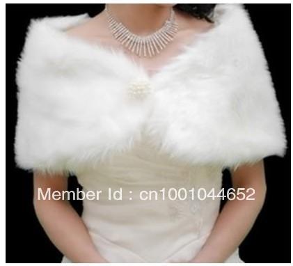 New Ivory Faux Fur Wedding Bridal Wrap Shawl Stole Tippet Jacket Coat Bolero