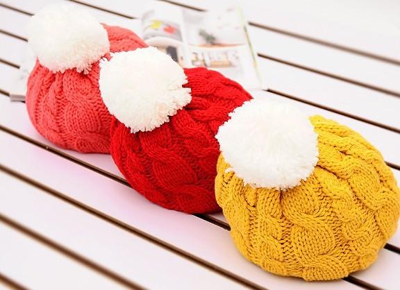 New Ladies Hat  All-match wool hat