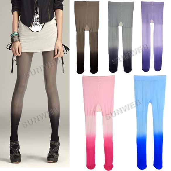 New lady Sexy Gradual Change Velvet Stockings Tights Leggings Pantyhose 5colors free shipping 8196