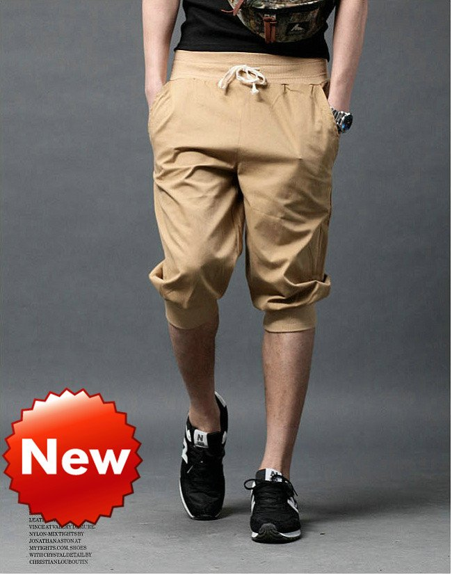 NEW Men Women Unisex Casual Atheletic Sporty Baggy Harem Capri Pirate Shorts Short Pants Trousers Joggers Bottoms Free Shipping