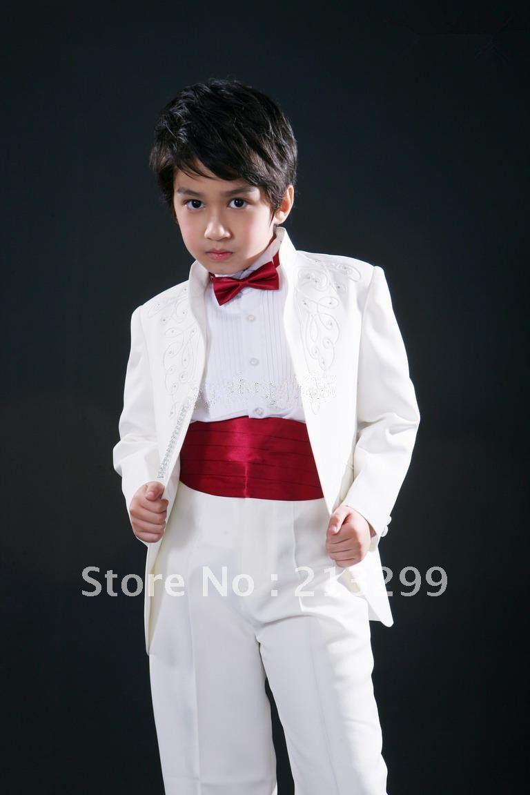 New Style Wedding Dress Suit Groom Wear & Accessories Boys\' Attire ...