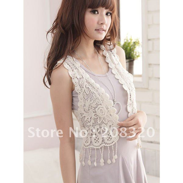 New Style Womens Vest Gorgeous Crochet Hollow Knit Top Sweater 2012 Hot sale