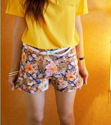 New sweet tall waist short trousers broken beautiful restoring ancient ways