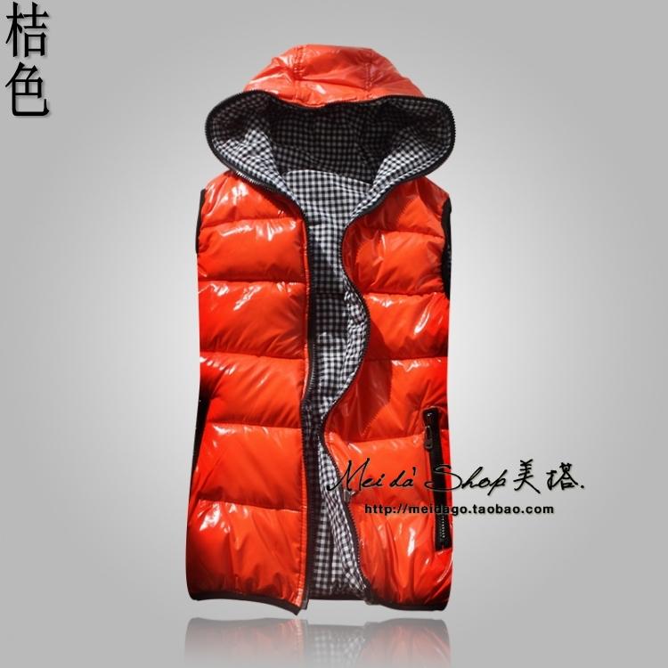 New Women Korean fashion couple of shiny down cotton hooded vest  big yards