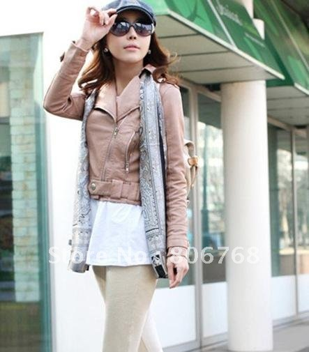 New Women's Zipper PU Leather Jacket Lady Coat Outerwear LM235 (Drop Shipping Support!)