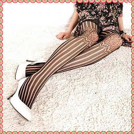New10pair Fashion Retro Sexy Women Lady Soft Stripe Tights Fashion Pantyhose Fishnet stockings Socks Stockings free shipping