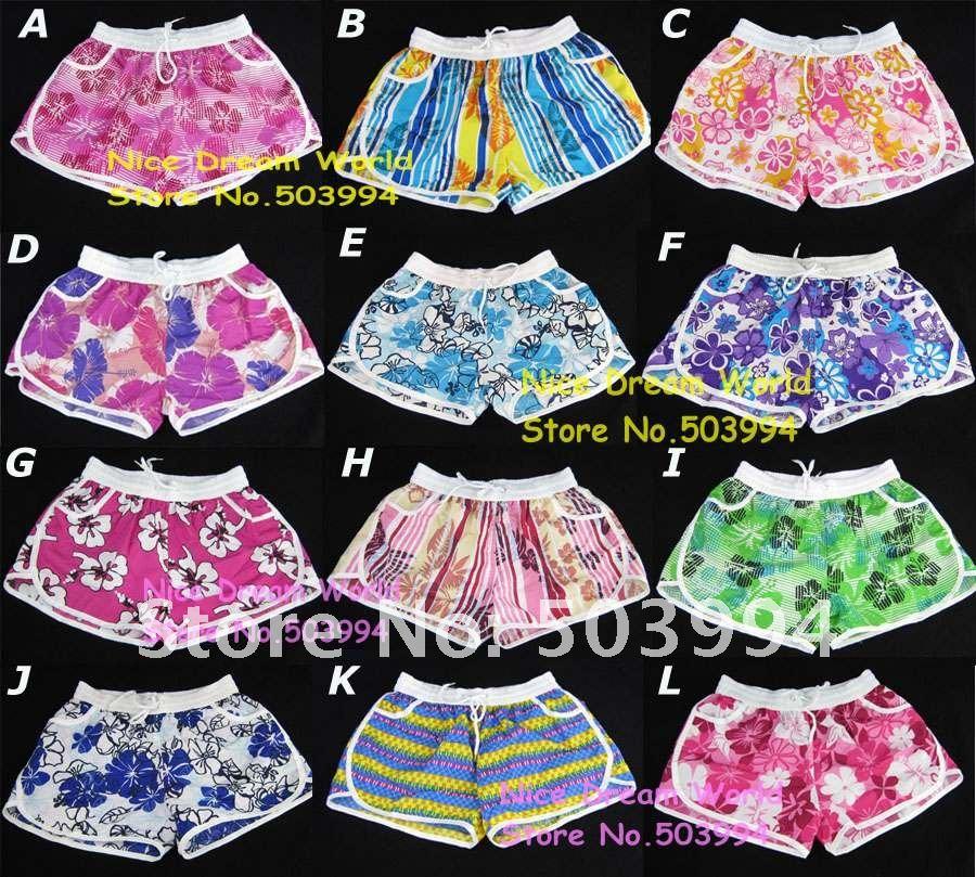 NEWEST free size,Hawaii Shorts,Lady colourful shorts,Sand beach trousers,summer beach shorts (XT-2)