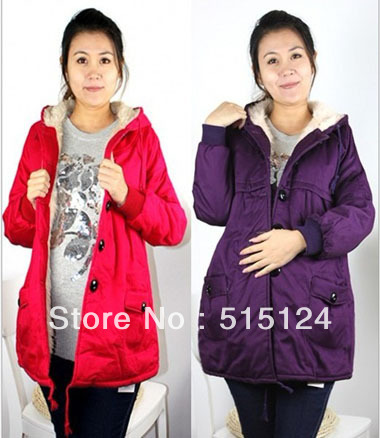 News Winter  Maternity coats Pregnant women thicken cotton coats Warm coats for Maternity 4colors and 2size