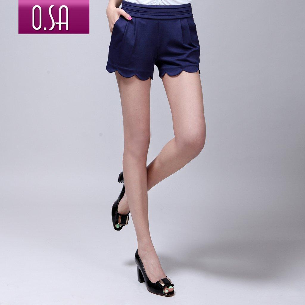 O.SA 2012 summer women's fashion laciness straight slim shorts k22151