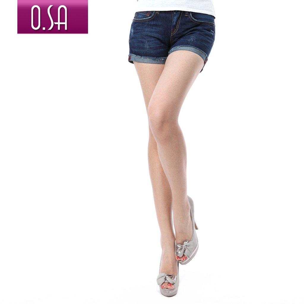 O.SA 2012 summer women's wearing white denim shorts female k24035
