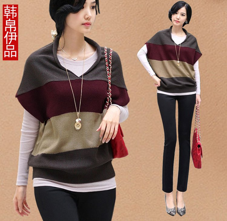 OTTO 2012 autumn women's knitted batwing shirt loose trend plus size outerwear autumn Women free shipping