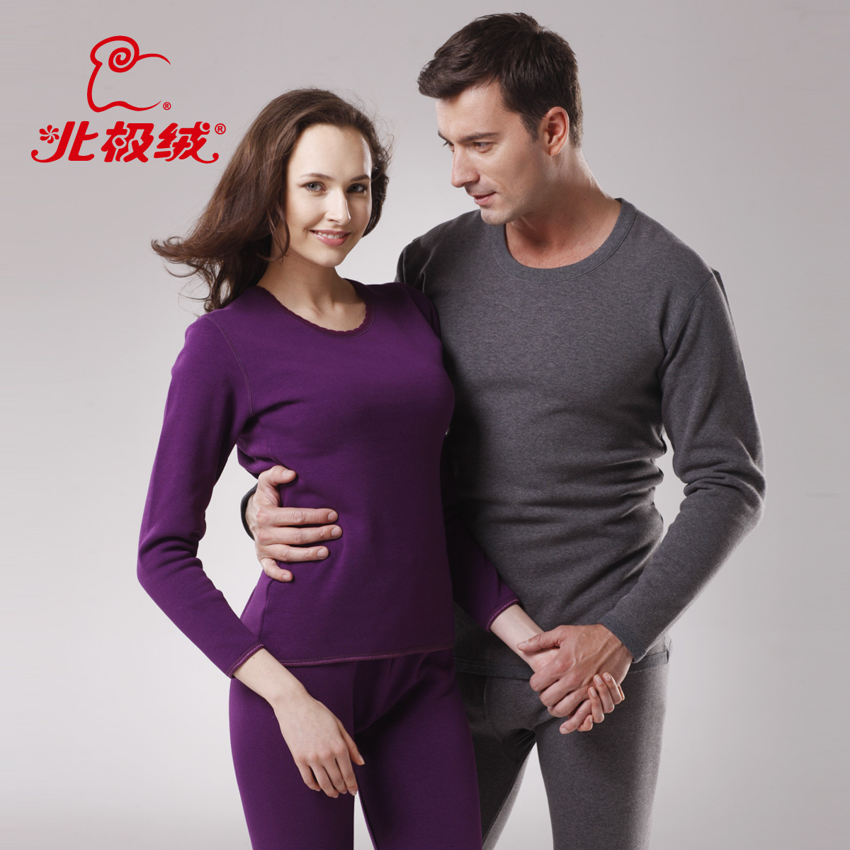 OTTO Thermal underwear thickening plus velvet wool bamboo thermal lovers set male women's 1 set free shipping