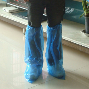 Outdoor travel long design over-the-knee lengthen thickening disposable shoes cover