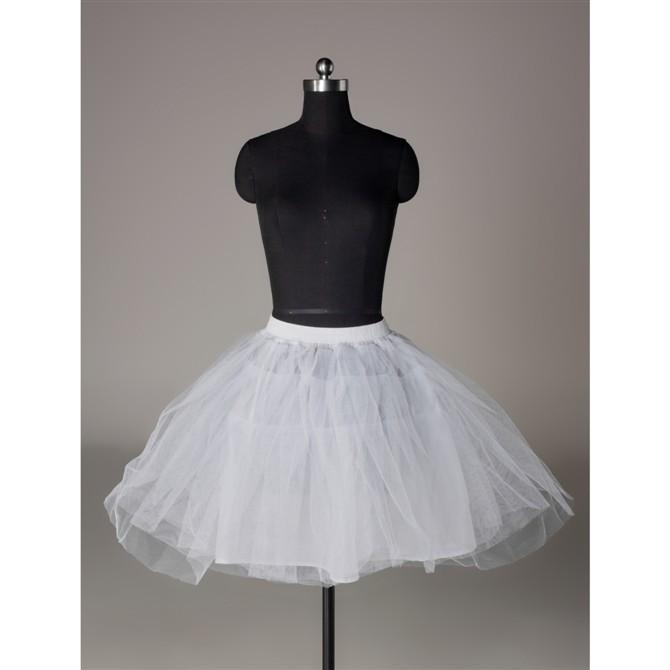 Pannier hard network short design boneless slip ballet pannier evening dress short wedding dress design pannier