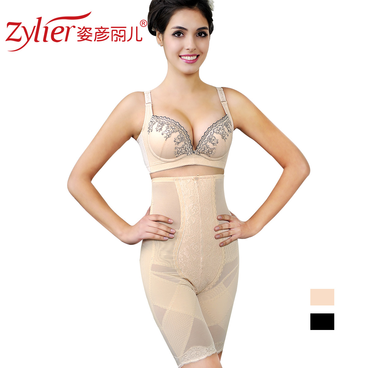 Peerlessly beautiful evening high waist abdomen drawing pants butt-lifting pants solid color body shaping panties sk80