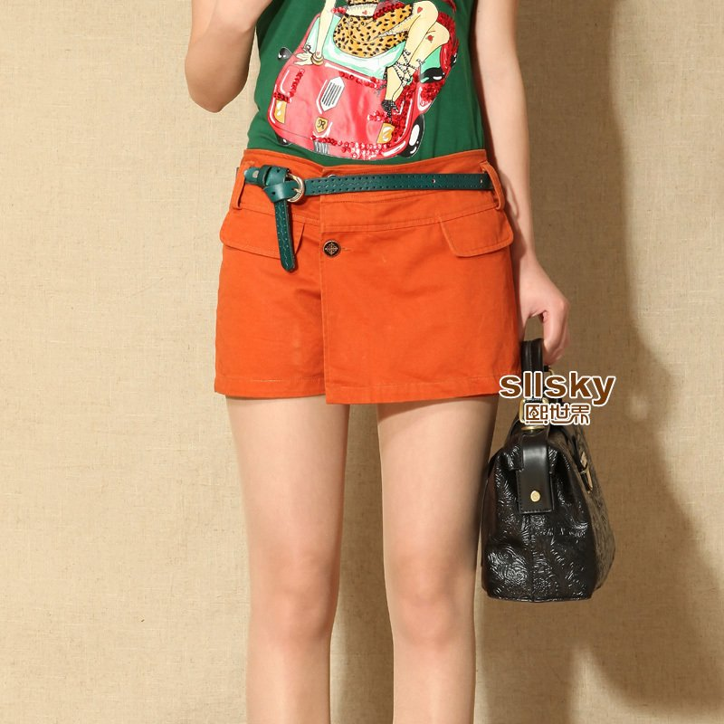 Personality handsome 2012 spring plus size clothing slanting lapel shorts 409