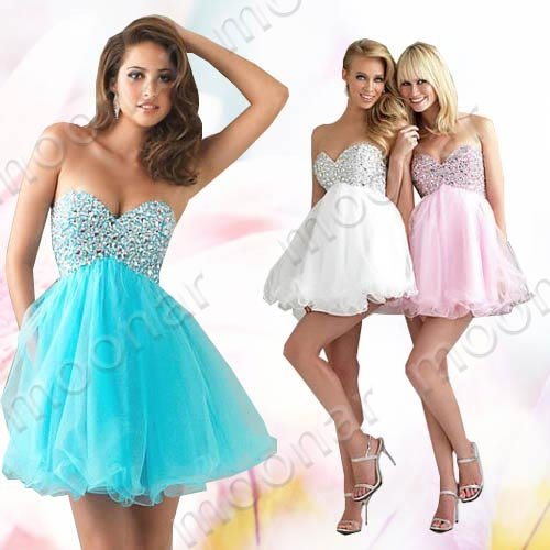 Pink Prom Gown Bridesmaid Chiffon Party Mini Pleated Dresses LF009
