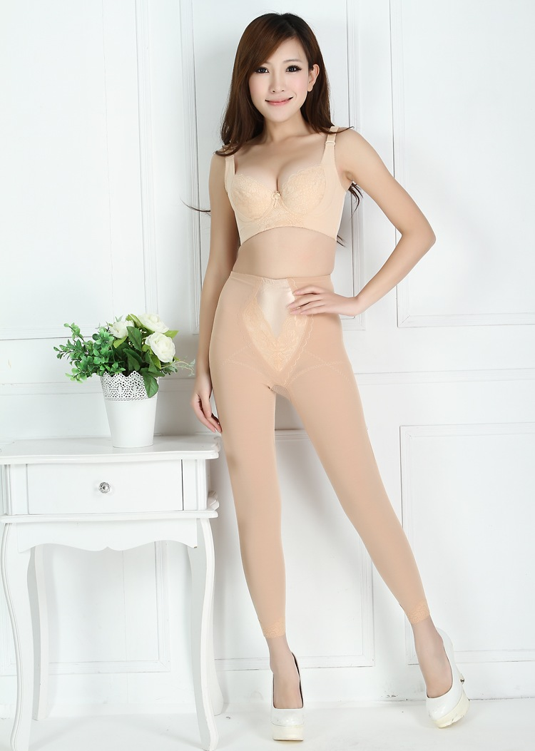 Plastic pants high waist body shaping trousers drawing abdomen pants drawing butt-lifting abdomen pants corselets pants legs