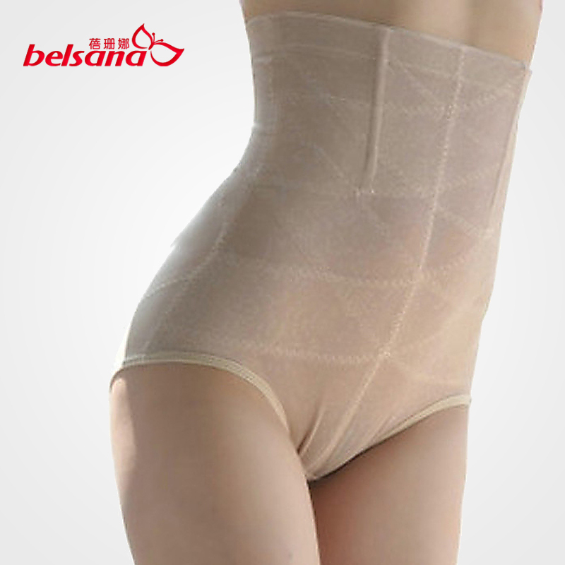 Plus size high waist abdomen drawing butt-lifting body shaping pants beauty care panties