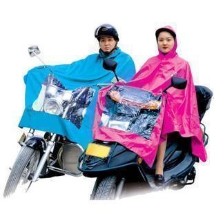 Plus size motorcycle ride electric bicycle poncho singleplayer oxford fabric raincoat transparent 780g