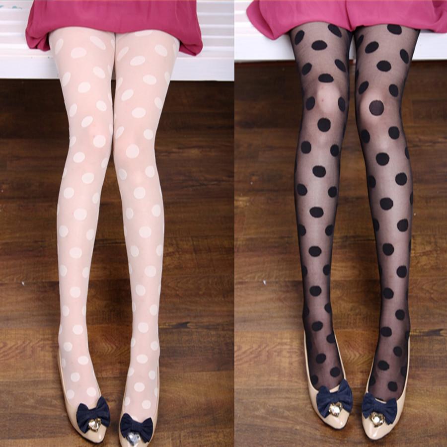 Polka dot big dot ultra-thin jacquard stockings pantyhose
