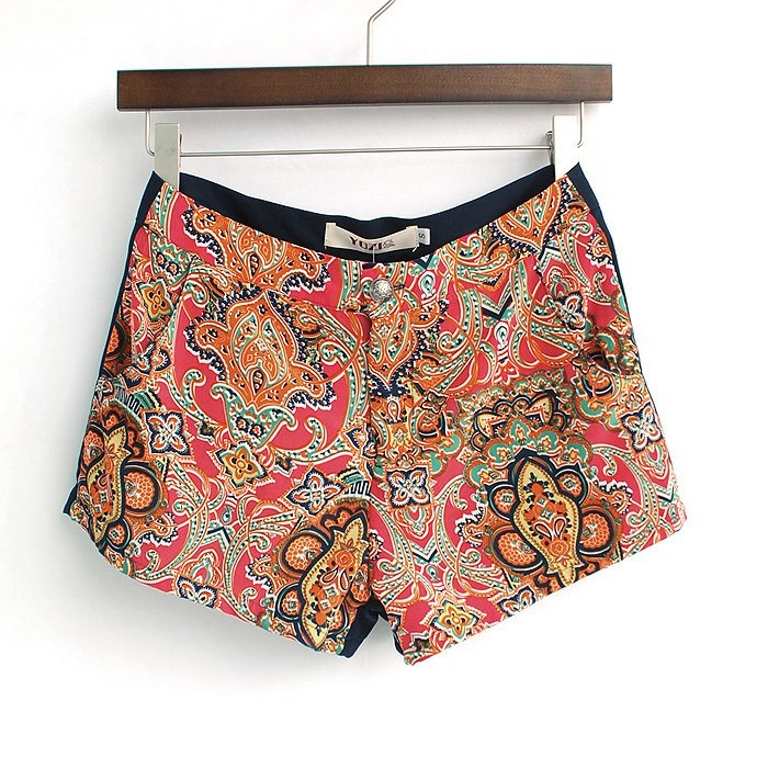 Pomeloes clothing zc062 new arrival 2012 summer women's fashion slim hip all-match print chiffon shorts
