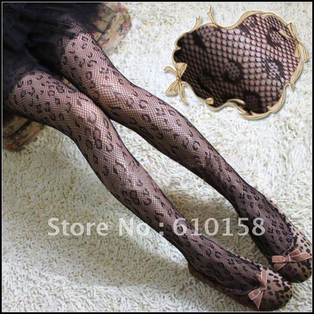 Popular  Fishnet  Leopard Pantyhose  Tights Sexy Leggings Women Stocking Hosiery 10pcs/Lot  Retail Package Guaranteed Quality