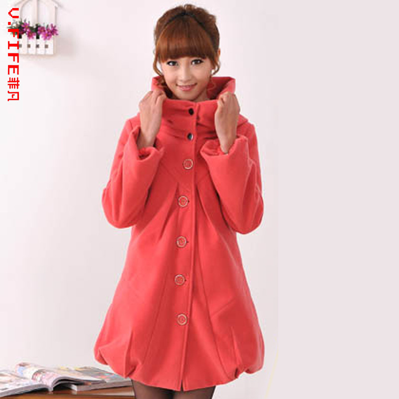 Pregnant women autumn and winter coat dreadfulness top overcoat maternity clothes 1201