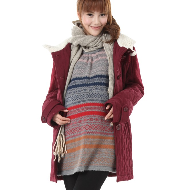 promotion! Autumn and winter maternity wadded jacket 1992421 long maternity thermal clothing outerwear Free shipping