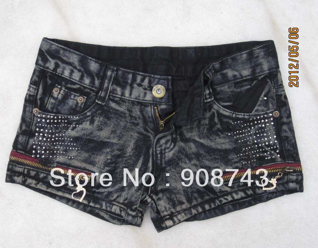 Promotion Lady Denim Shorts,Women's Jeans Shorts,Hot Sale Ladies' Short Pants Size:S M L,XL,XXL Free Shipping via China Post