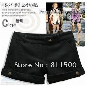 Promotion New Arrival Autumn Women Casual wool short pants Ladies shorts
