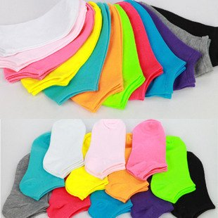 Promotion, pure colour colourful Boat socks,ankle socks,high quality!
