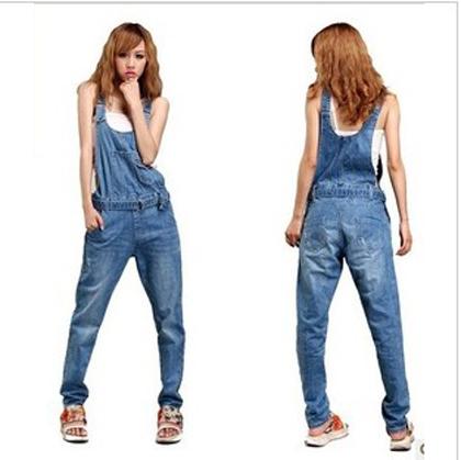 Promotion!!!romper  jeans denim bib overalls women jumpsuits female overalls fashion ladies summer 2013