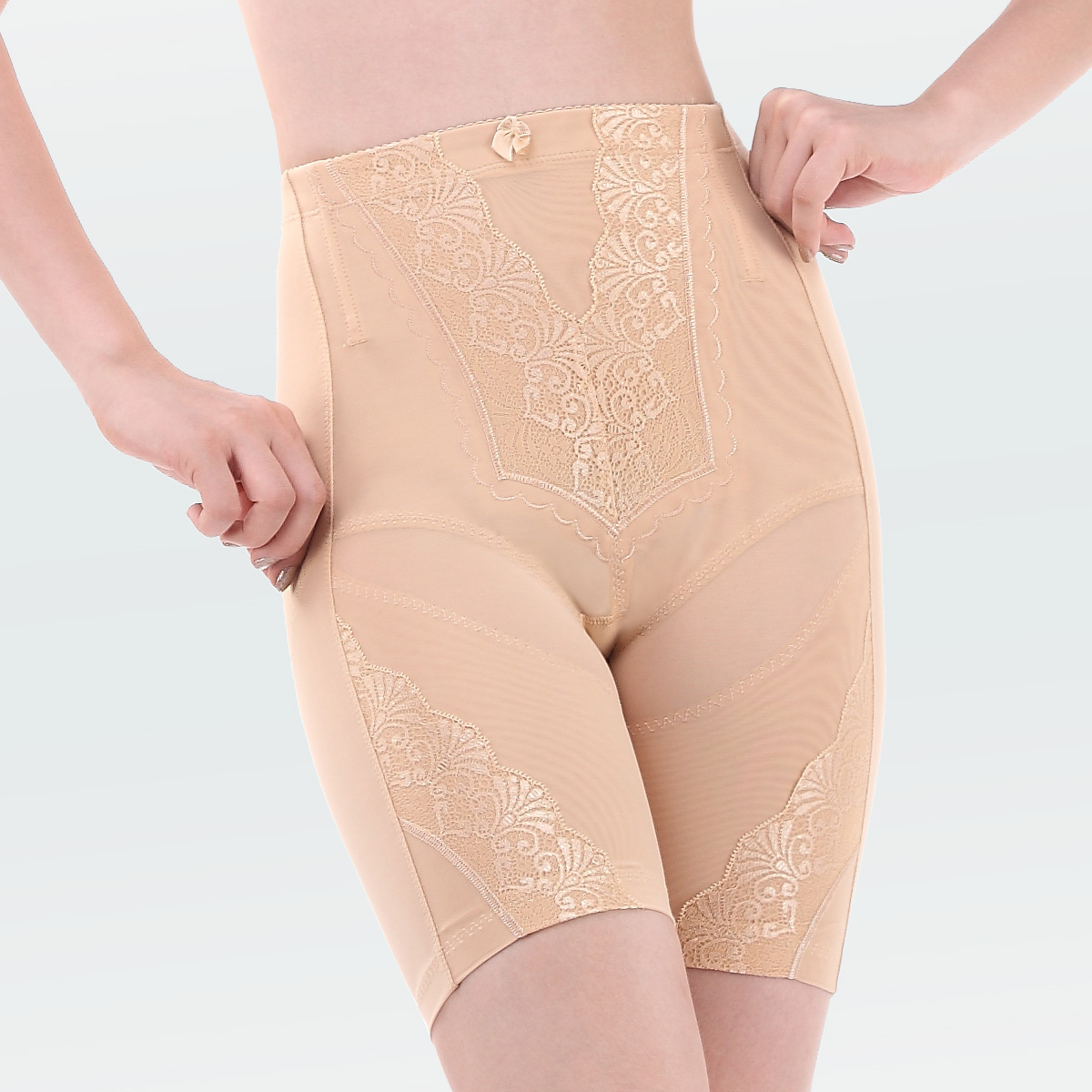 Puerperal high waist abdomen drawing butt-lifting bottom stovepipe panties female corset pants beauty care body shaping pants